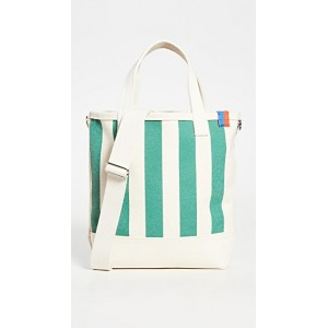KULE Womens The All Over Striped Bucket Bag Canvas/Green for work KULEE30211