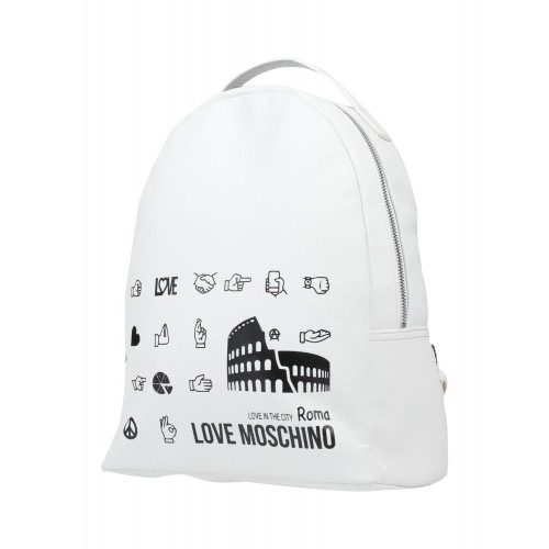 LOVE MOSCHINO Womens Backpack & fanny pack White 45556819MJ