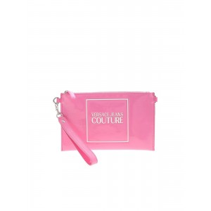 Versace Jeans Couture Womens Logo clutch bag in pink inexpensive E1VZABHX71580400